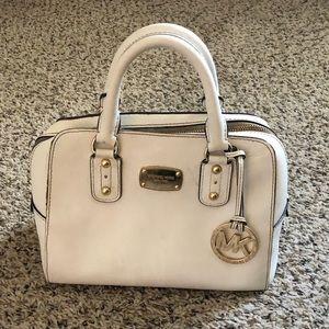 USED Michael Kors White Mini handbag